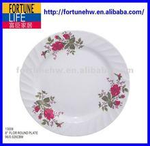 """Melamine 8"""" flower round plate"""
