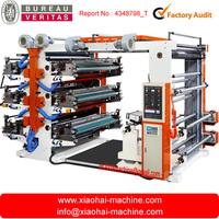 Six colors Flexographic printing machine for Plastic bag