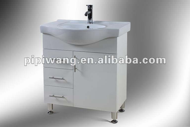 Moderno 800 mm mdf solo baratos peque os muebles de cuarto de ba o cuarto de ba o gabinete for Muebles cuarto de bano baratos