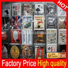 custom tin signs ,wholesale embossed metal sign (factory price) moq:100pcs