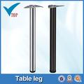Top vente chrome acier de table réglable jambe