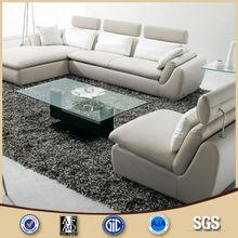 Malaysia Latest Design White Leather L Shape E2-572