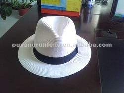 hot sell cheap natural white chapeau panama trilby customzied mens hat