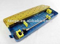 plastic sterilization endoscope tray for two long rigid endoscopes--base,lid,holders(P606)