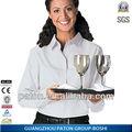 Por encargo de fábrica precio uniforme de camarera de hotel bd-483 diseño uniforme unifo