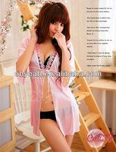 Hot sale new design female sexy silk lingerie