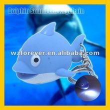 Dolphin Sound LED Flashlight Key Ring