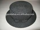 popular design ladys wheat straw fashion black hat