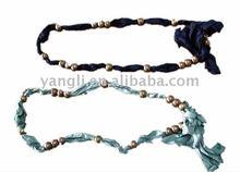 2014 fabric thread beads belt for ladies