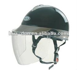 Huadun ABS shell half face motorcycle helmet, black half face helmet, HD-321