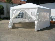 Heavy duty Hexagonal White Polyester Gazebo Canopy with windows