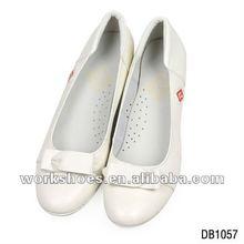white wedge heel leather shoes 2012 new season