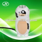 1 LED Lovely Cow Hand Crank Dynamo Flashlight