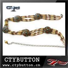 chain belts/beaded belts for women