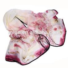 Top Designer 100% Silk Scarf for Women (GB520)