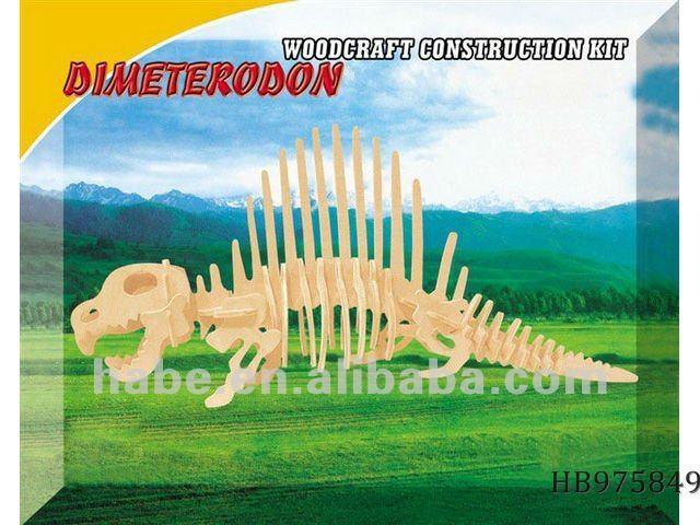 Caliente de dinosaurios de madera plano puzzles/rompecabezas, los niños educativos de madera juguetes de construcción