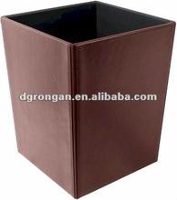 Executive faux Leather Waste Basket