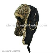 2012 Fashion Leopard fake fur snow hat, winter cap
