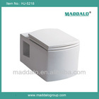 HJ-5218 Wall Hung Porcelain Square Water Closet Toilet