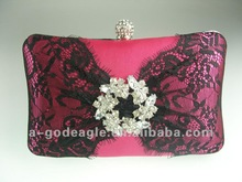 2013 satin evening clutch hard case for ladies G20438