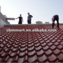 European Style Waterproof Red Clay Roofing Tile