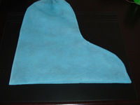 PP disposable boot cover in blue color