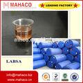 labsa المنظفات وكيل بالسطح 96% حمض السلفونيك alkylbenzene الخطي حمض السلفونيك dodecylbenzene الصانع