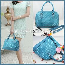 New Style Woven Gradient Sheepskin Genuine Leather Women's Handbag