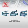 heat impulse hand iron sealer plastic aluminium