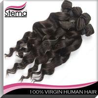 high quality 100% brazilian hair clip-on hair extension