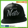 Custom Black Leather Snapback With 3D Embroidery SN-1192