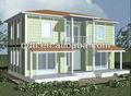 Modernos baratos casa prefabricada/villa hecha en china