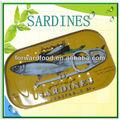 N W.125g d. W.90g mejor enlatados sardinas en aceite vegetal de alta calidad en lata sardinas