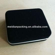 Black square velvet jewelry box fabric