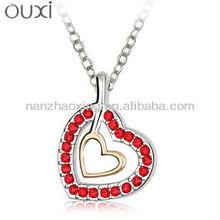 OUXI Artificial american diamond jewellery with Heart shape