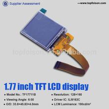Factory supply 1.77 inch TFT screen , 128*160 -TF17711B