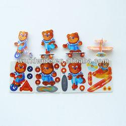 Cute Bear Card,3D Card, Buildable Cards,3D Puzzle Card, Model Toy,DIY Card