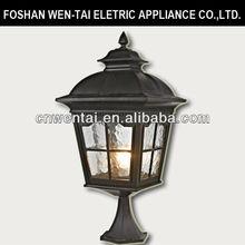 Classic outdoor garden lighting water glass pillars with light