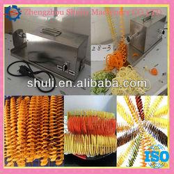 Electric automatic Potato tower making machine/spiral potato cutter/potato twist machine\\008613676951397