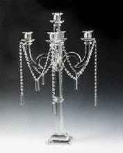 2014 new fashion cheap wedding crystal candle stand