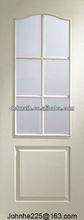 Glazed White Moulded Door,white primer glass door,glazed moulded door