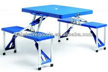 Plastic cheap camping set picnic table