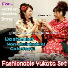 Japan Kimono Online Wholesale Company Washable linen lady Yukata Kimono Dress Japanese kimono