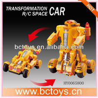 4ch rc space car rc robot toy changeable robot car HY0065800