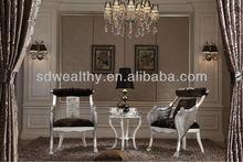Alibaba esprimere hotel mobili/Royal disegno di velluto aquila poltrona/di legno intagliato a mano pavone poltrona sedia antica mg-7822