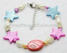 2012 Fashion Joya Colorfull Pearl Shell Beaded Bracelet