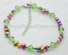 2012 Fashion Joya Colorfull Fresh Water Pearl Bracelet
