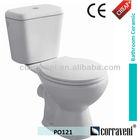 CE cheap price ceramic wc toilet bowl PO121