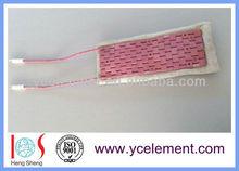 flexible Ceramic mat heater Alumina heating pad 2.7KW 60V with SS plate
