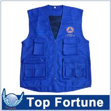 man Sleeveless cheap safety work vest